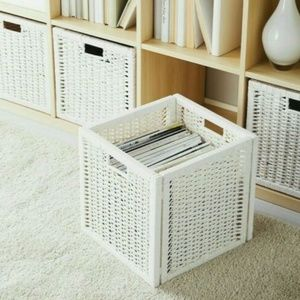 IKEA Branas White Cube Basket Storage 1